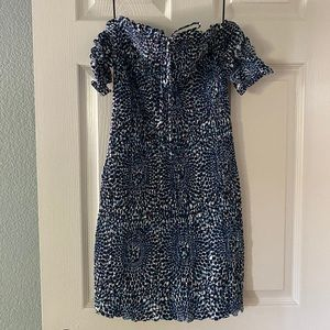 Free People Smocked Mini Dress, off the shoulder